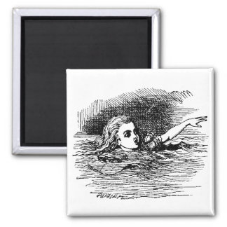Alice Drowning 2 Inch Square Magnet