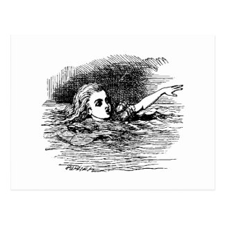 Alice Drowning Postcard