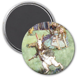 Alice Encounters a Rabbit Distraction Magnet