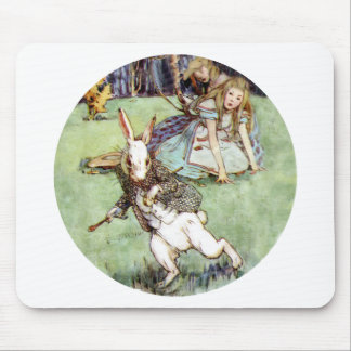 Alice Encounters a Rabbit Distraction Mouse Pad