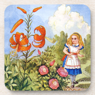 Alice Encounters Talking Flowers in Wonderland Coaster