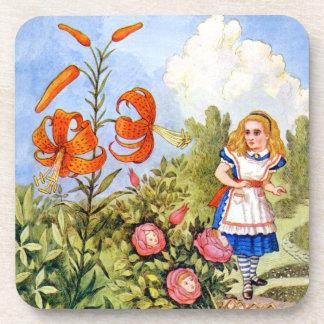 Alice Encounters Talking Flowers in Wonderland Coaster
