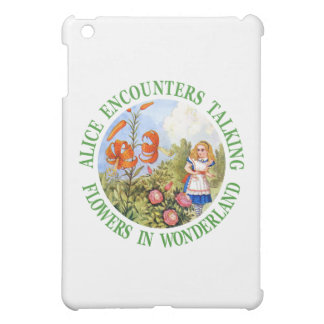 Alice Encounters Talking Flowers in Wonderland iPad Mini Cover