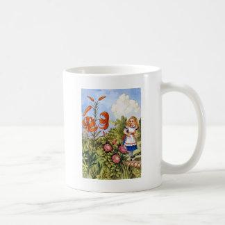 ALICE ENCOUNTERS THE TALKING FLOWERS COFFEE MUG
