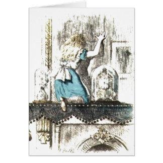 Alice Entering Wonderland Card