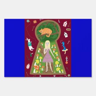 Alice (Fairy Tale Fashion Series #4) Lawn Sign