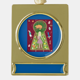 Alice (Fairy Tale Fashion Series #4) Gold Plated Banner Ornament