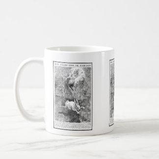 Alice Falling Down the Rabbit-Hole Classic White Coffee Mug