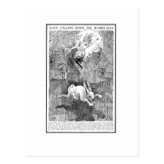 Alice Falling Down the Rabbit-Hole Postcard