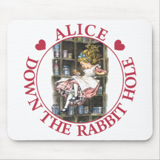 Alice falls down the rabbit hole! mouse pad