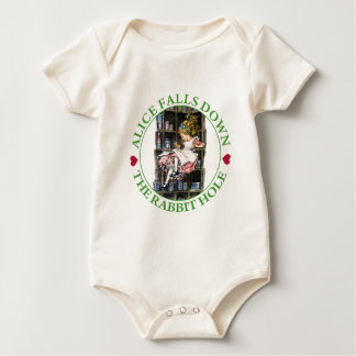 Alice Falls Down the Rabbit Hole To Wonderland Baby Bodysuit