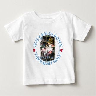 Alice Falls Down the Rabbit Hole to Wonderland Infant T-shirt