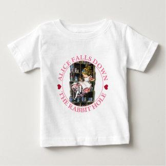 Alice Falls Down the Rabbit Hole to Wonderland T Shirts