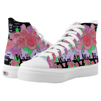 Alice Fell Down a Hole  Floral Hightop Skate Shoe
