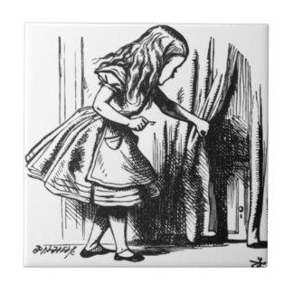 Alice Finds a Door Ceramic Tile