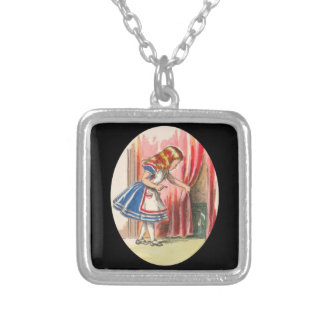 Alice Finds the Door Silver Plated Necklace