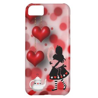Alice & Flamingo Hearts iPhone 5 Case