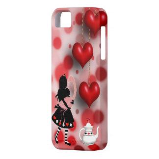 Alice & Flamingo Hearts & Teapot iPhone SE/5/5s Case