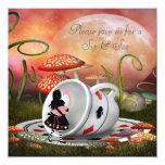 Alice & Flamingo Sip & See Baby Shower Card