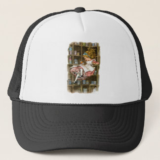 Alice floats down the rabbit hole trucker hat