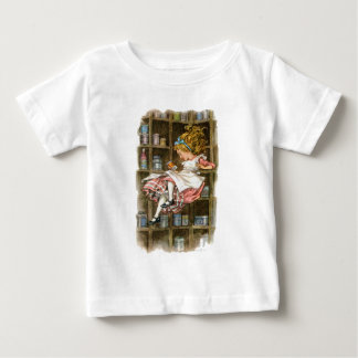 Alice floats down the rabbit hole tee shirts