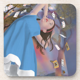 Alice Flying Cards Cork Coaster