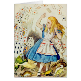 Alice - Flying Deck Of Cards - Note Card Greeting Cards