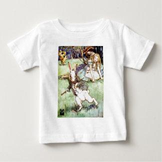 Alice Follows the White Rabbit To Wonderland Baby T-Shirt