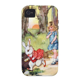 Alice Follows the White Rabbit To Wonderland Case-Mate iPhone 4 Cases