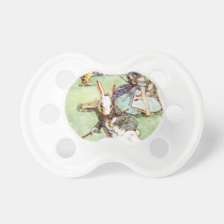 Alice Follows the White Rabbit To Wonderland Pacifier