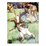 Alice Follows the White Rabbit To Wonderland Post Cards
