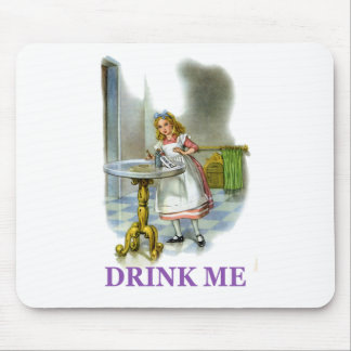 "Alice Found a Key By a Bottle That Said ""Drink Me"" Mouse Pad"