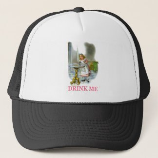 """Alice Found a Key by a Bottle that said Drink Me!"""" Trucker Hat"""