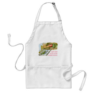 Alice gets stuck in the rabbit's house adult apron
