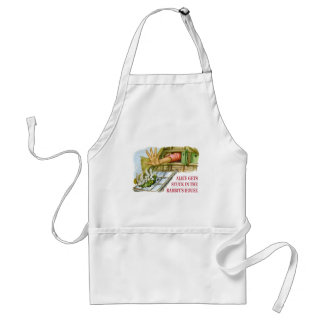 Alice gets stuck in the rabbit's house. adult apron