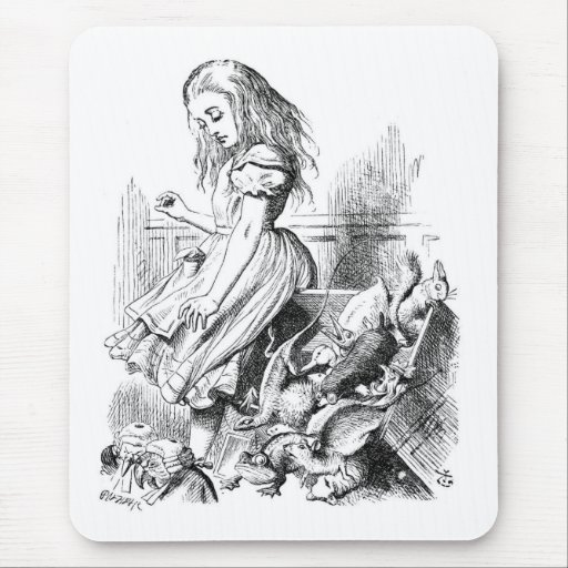 Alice Gives Evidence Mouse Pad