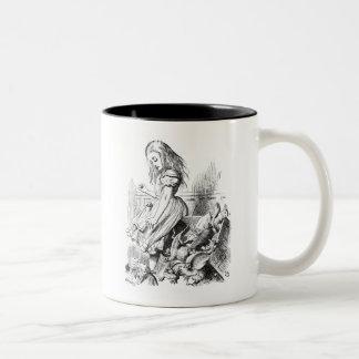 Alice Gives Evidence Two-Tone Coffee Mug
