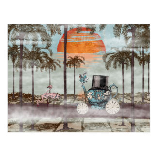 Alice Goes to California - digital art Postcard