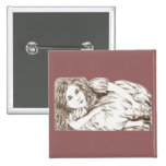 Alice Grows by Lewis Carroll Sepia Tint Pinback Buttons