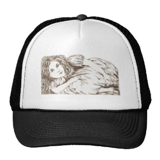 Alice Grows by Lewis Carroll Sepia Tint Trucker Hat