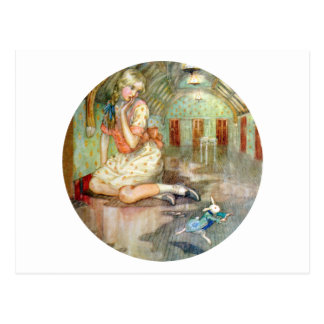 Alice Grows Large, Scaring the White Rabbit Postcard