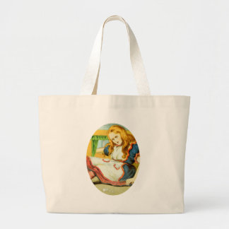 Alice Grows Large Tote Bag