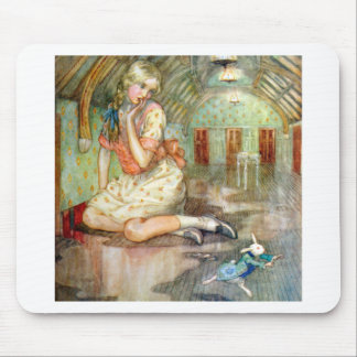 Alice Grows Too Big for the House in Wonderland Mouse Pad