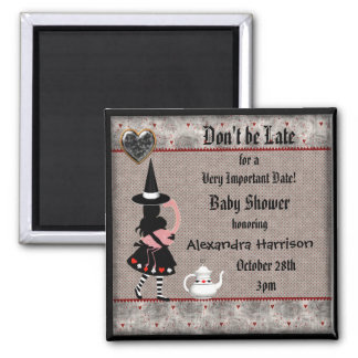 Alice Halloween Baby Shower Save the Date Magnet