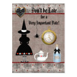 Alice Halloween Baby Shower Save the Date Postcard