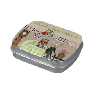 Alice & Hare In Wonderland Over Baby Shower Jelly Belly Candy Tins
