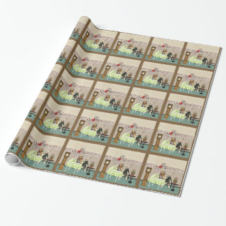Alice & Hare In Wonderland Over Baby Shower Gift Wrapping Paper