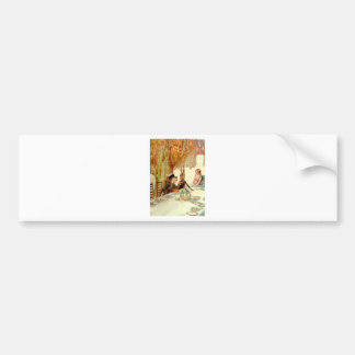 ALICE HERSELF TO THE MAD HATTER'S TEA PARTY CAR BUMPER STICKER