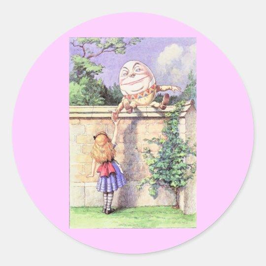 Alice & Humpty Color Classic Round Sticker