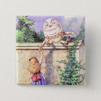 Alice & Humpty Color Pinback Button